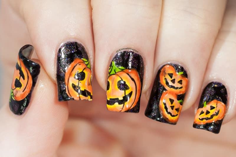 jack o lantern nails