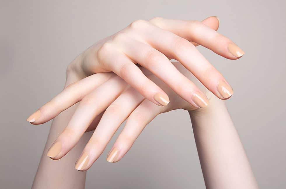 Nude nail color for pale and light skin