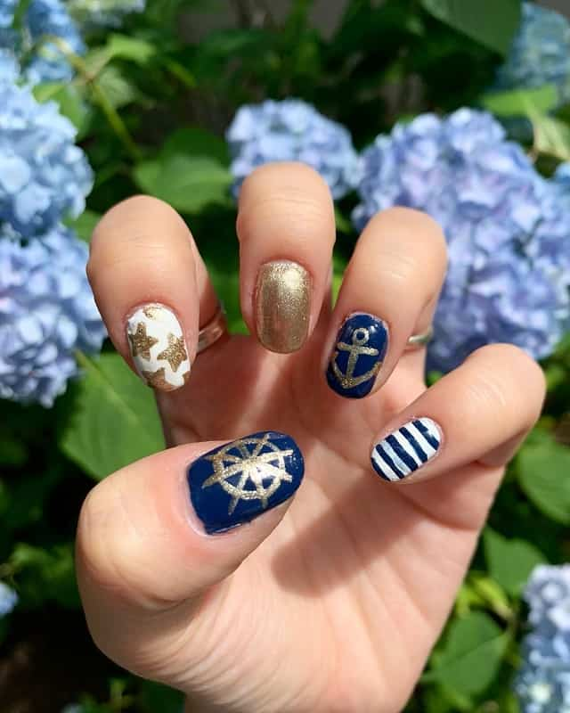 nautical nail art stencils