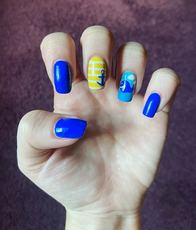 summer nautical nail designs