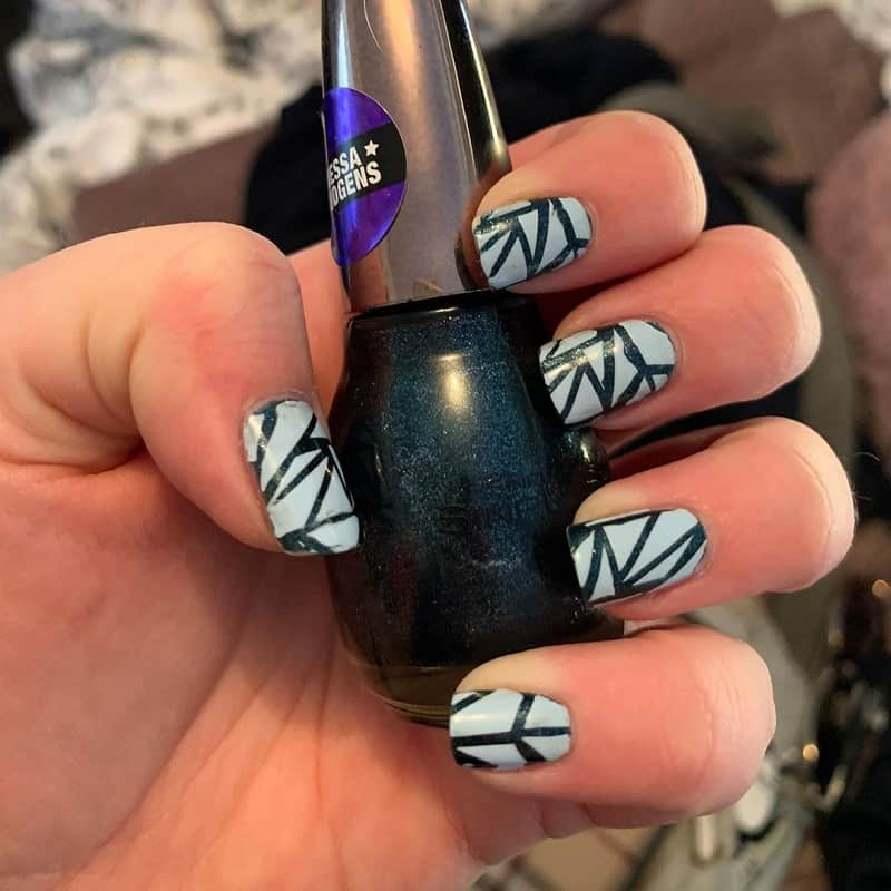 shattered glass acrylic nails