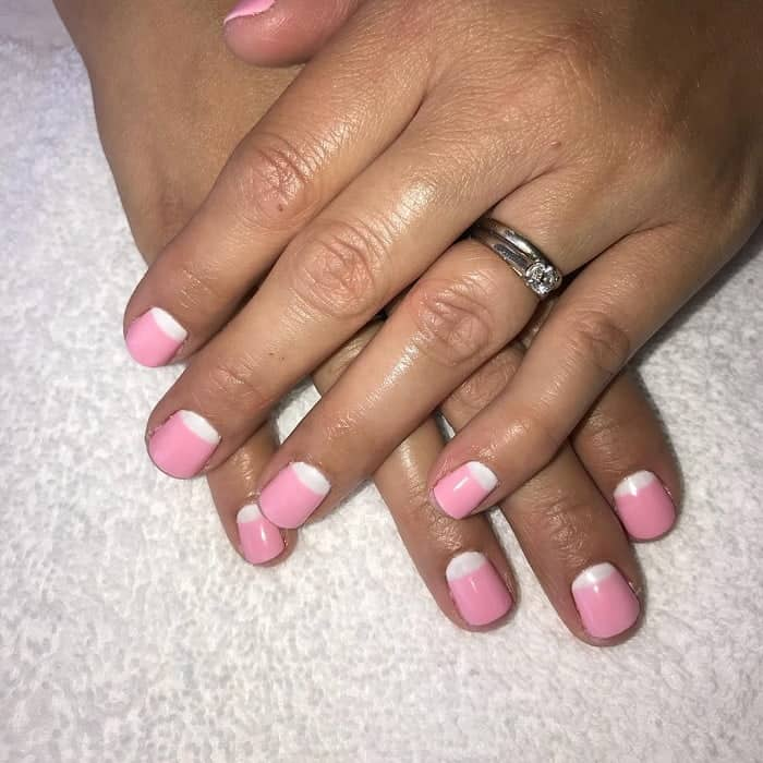 Pink Reverse French Manicure