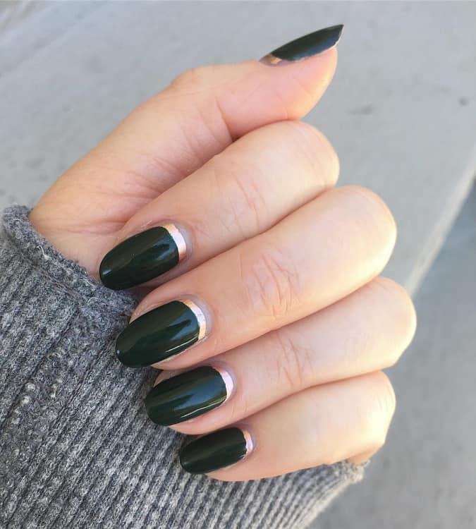 Reverse French Gel Manicure