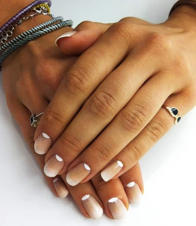 Reverse Ombre French Nails