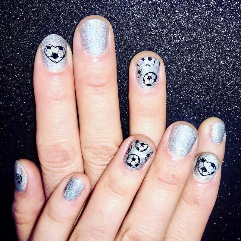 football nail arts stickers