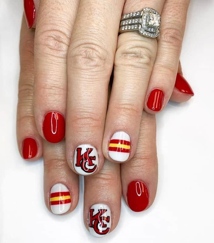 football team nail art