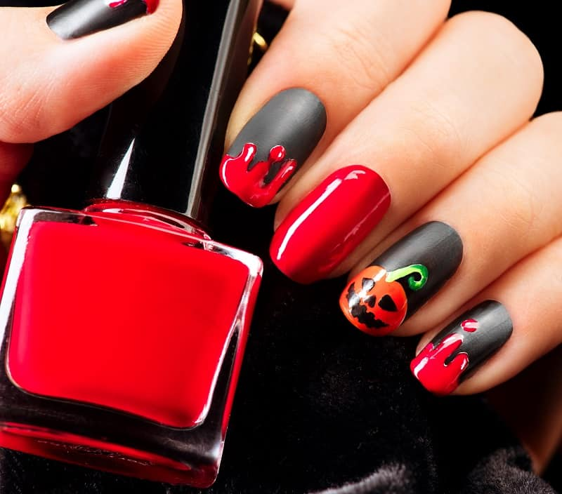 halloween nail design ideas