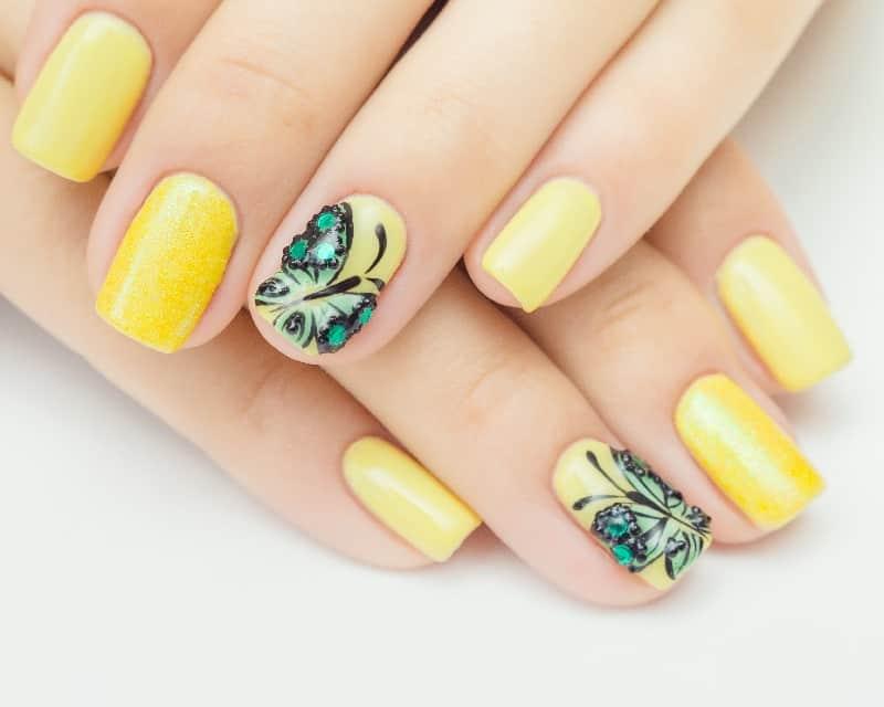 yellow nail design ideas