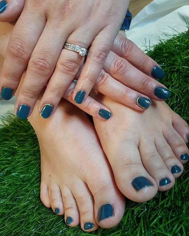 teal toe nail designs