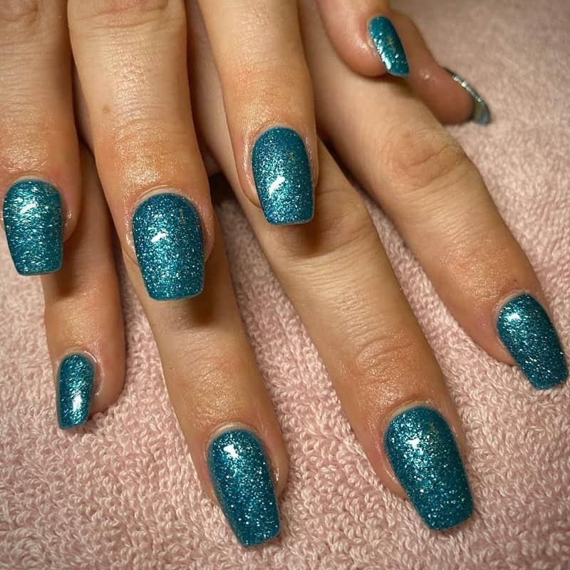 valentine teal nail designs