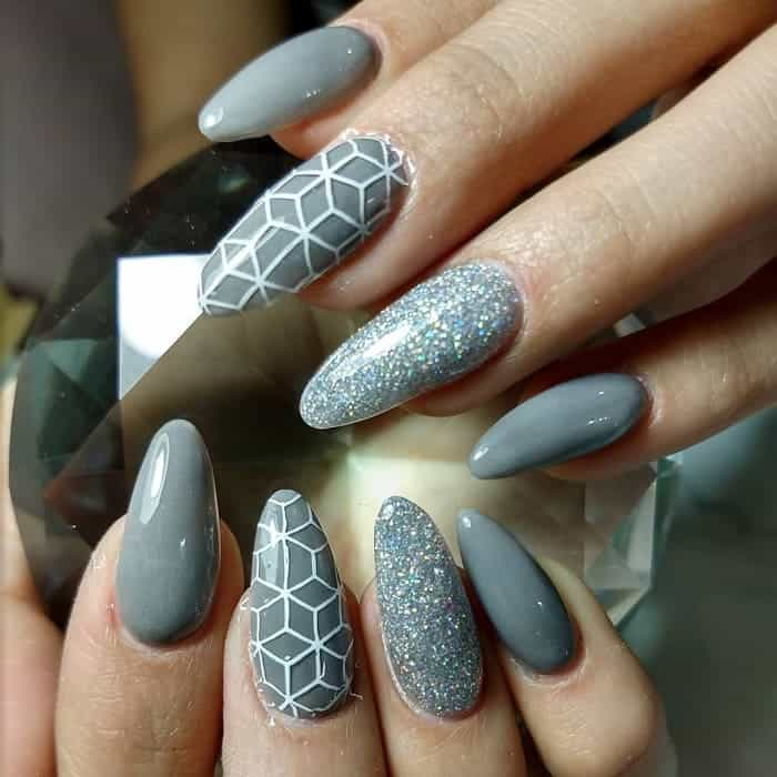 grey gel nails
