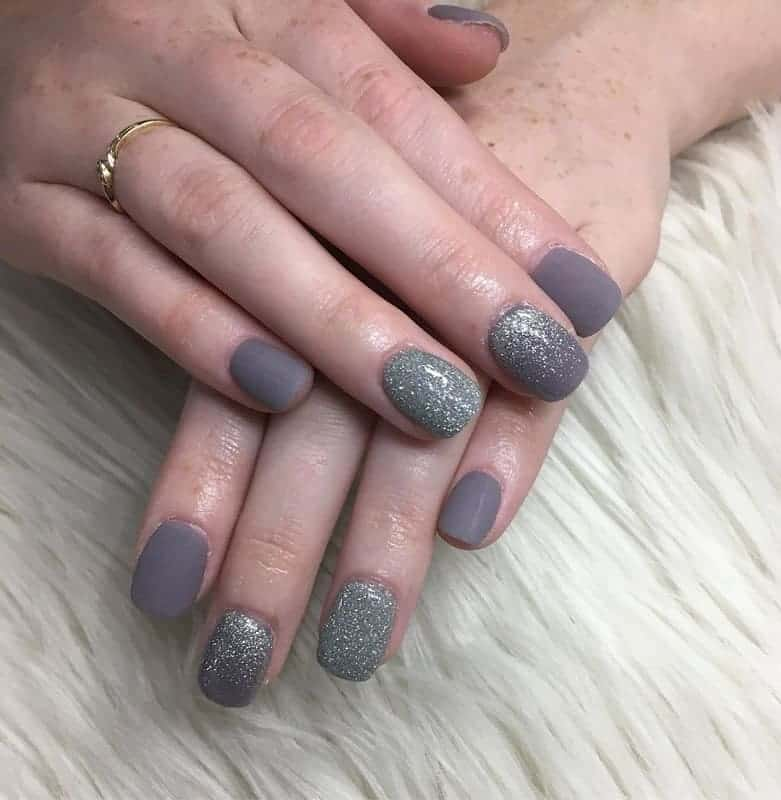 grey nails for wedding