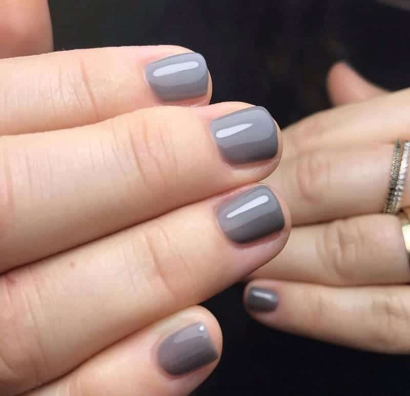 short grey nails