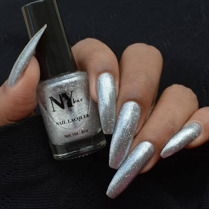 coffin shaped silver nails