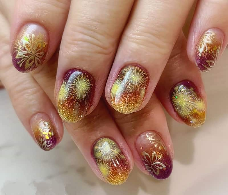 airbrush royal nail design