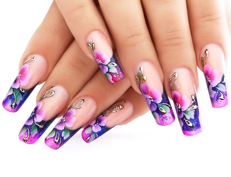 spring gel nails