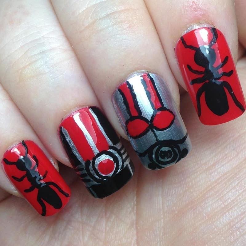 marvel antman nail art