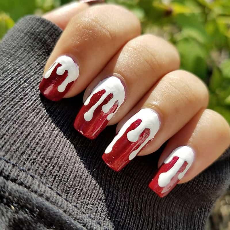 gothic acrylic nail ideas