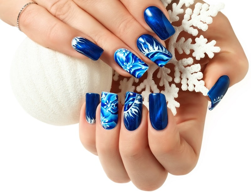 funky winter nail design