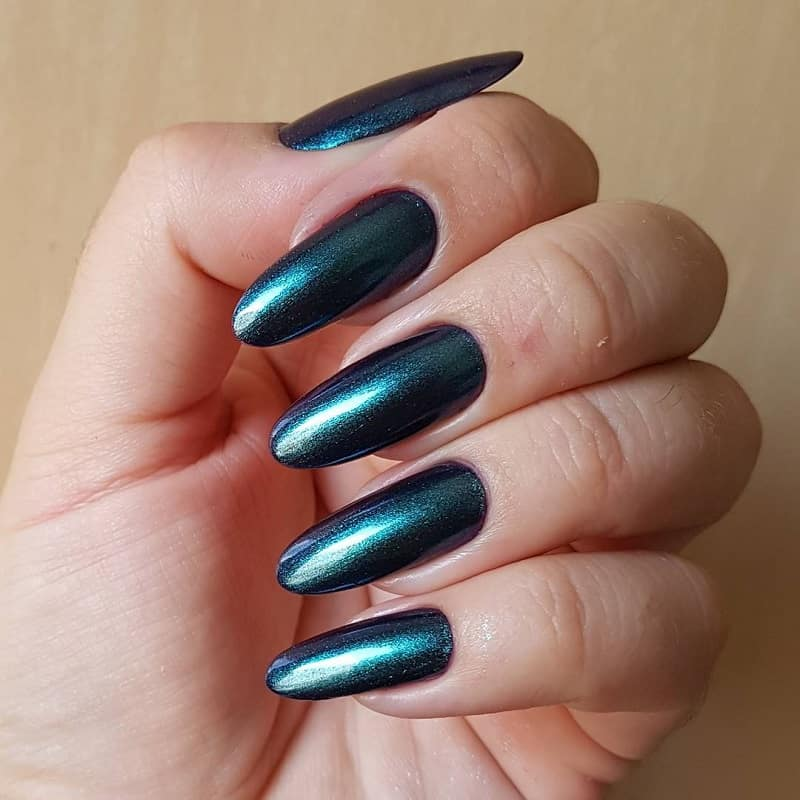 round acrylic long nails