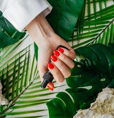 a beautiful red nail art